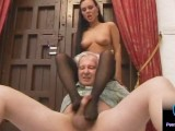 Luscious Valentina Velasquez gives sensual footjob to grandpa