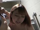 むちむち可愛い女子大生シーズン2②ショッピングモールでノーパンノーブラ透け乳首露出お散歩の後の多目的トイレで生SEXと中出し!海外仕様
