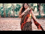 Puja in Check Print Saree