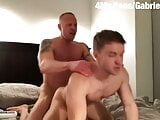 Gabriel Cross Fucked by a Muscle hunk.