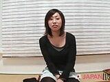 Skinny Japanese MILF Up Close, POV Sex And Creampie