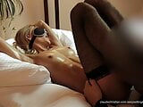 Blonde horny wife with stranger – tied, licked and fucked