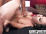 Asa and Dana team up for a hot threesome with Derek