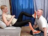 Sneakers worship. Russian femdom