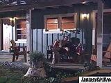 Brooke Banner – Sexy blonde fucks girlfriend husband on porch