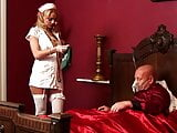 Sizzling hot nurse cures patient by sucking his cock