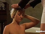 Two Tied Up Lesbian Slaves Whipped And Punished By Mistress