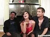 Jada Sky getting cum showered after threesome
